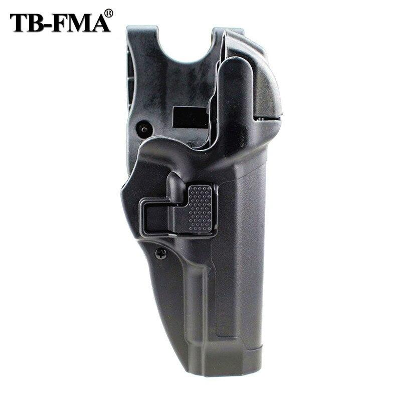 tb fma coldre tatico nivel 3 retencao de bloqueio automatico pistola coldre arma mao direita cinto
