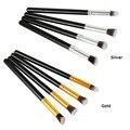 4 unids de Cepillo Del Maquillaje de Plata/Oro Pro Pinceles de Maquillaje Herramienta Cosmética sombra de Ojos Fundación Brocha Ojo T1322 P45