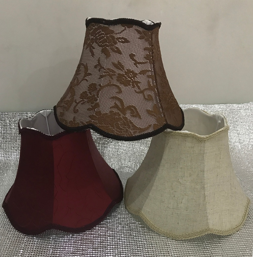 Lamp shade  for table Abstract flower Pattern Textile Fabrics Fashionable Decorative E27 lamp