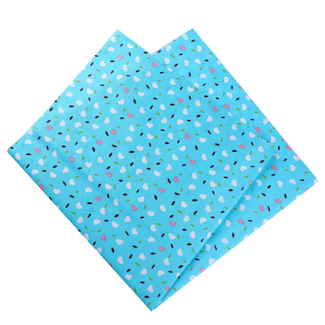 50X50cm 100% Cotton Floral Flowers Heart Dots Striped Fabric For Doll Patchwork Clothes Sewing Needlework Decor 53118