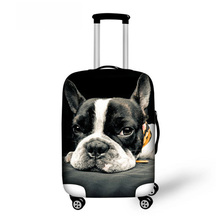 ThiKin France Bulldog Luggage Trolley Accessories Elastic Waterproof Luggage Set Cover Bags 18-30 inch Suitcase Protective Dust cheap Travel Accessories 72cm Animal Prints 50cm 600D polyester 0 23kg Packing Organizers Patchwork Fashion Luggage Accessories