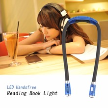 Pink/Black Neck Hug Light 4 Modes LED Handsfree Reading Book Night Unique Flexible Adjustable Read Lamp Newest