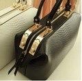 ¡ CALIENTE!!! nuevo 2015 Del Patrón Del Cocodrilo Marca Mujeres Bolso de Mano Grande de La Moda Bolso de Las Mujeres Bolsos de Cuero Bolsos Messenger Bag B96