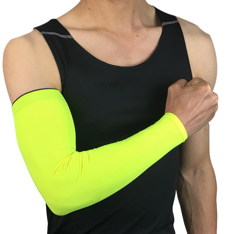 Men's Accessories Laamei Breathable Quick Dry Arm Sleeves Uv Protection Compression Running Basketball Elbow Pad Fitness Sports Arm Warmers