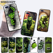 WEBBEDEPP Marvel Comic Superhero Hulk Painted Silicone Case for Huawei honor 6A 7A Pro 7X 8 Lite 8X 8C 9 9X Note 10 View 20
