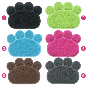 PVC Pet Dog Cat Feeding Mat Pad Cute Paw Pet Dish Bowl Feed Place Puppy Bed Blanket Table Mat Easy Wipe Cleaning
