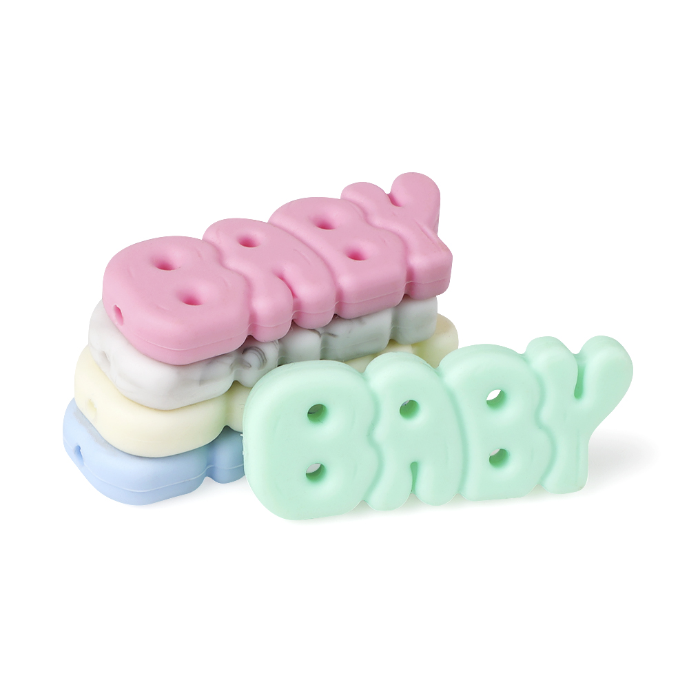 5pcs/lot Food Grade Silicone Beads Baby Letters Cartoon Beads Pineapple Colorful Beads BPA Free DIY Baby Teething Toy