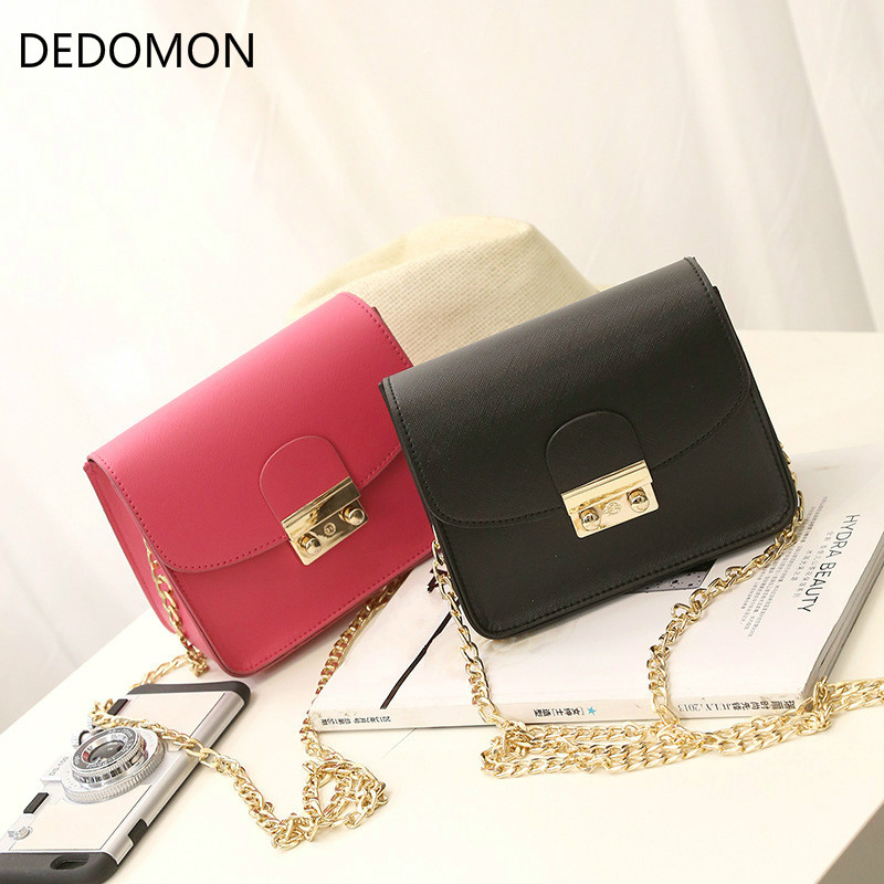 Famous designer brand bags women leather handbags Chain Solid Shoulder Bag mini bags Woman Messenger Bag purses and handbags