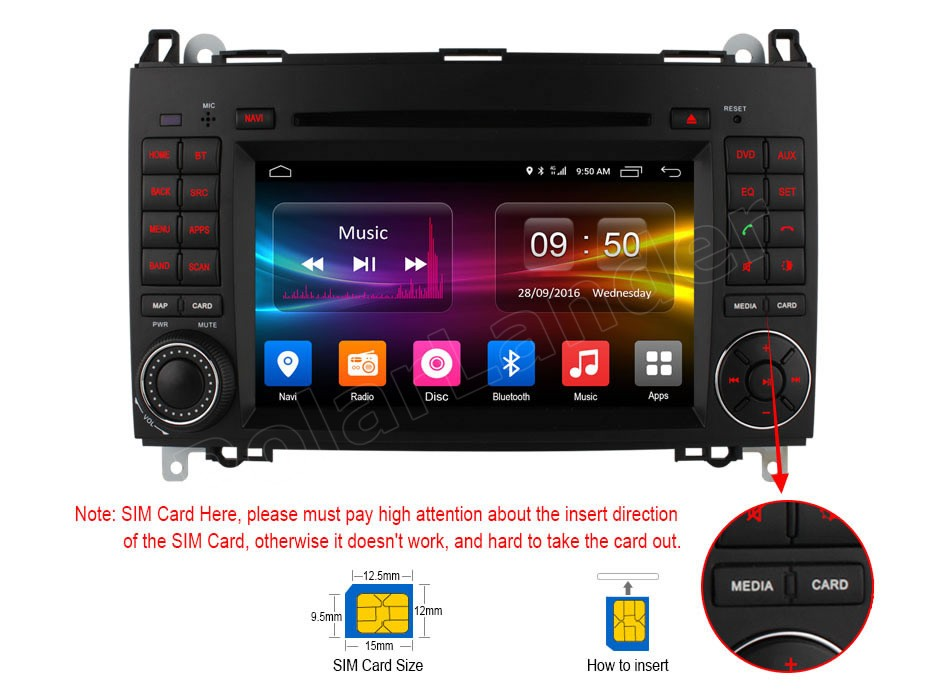 1024*600 Android 6.0 GPS Car DVD Player For B-ENZ A-cl/ass W169 S/printer W209 Crafter Viano Vito LT3 W245 bluetooth