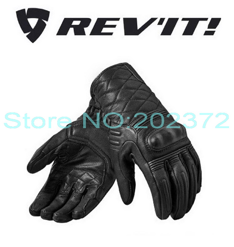 2016 New REV'IT! M0nster 2 motorcycle Gloves REVIT Motorbike gloves PWR SHIELD made of leather Black color FREE SHIPPING все цены