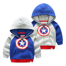 Kids Coat 2018 Spring Autumn Boys Girls Shield Clothes Cotton Hooded Sweatshirt Tops Casual Zipper Hoodies Children Outerwear