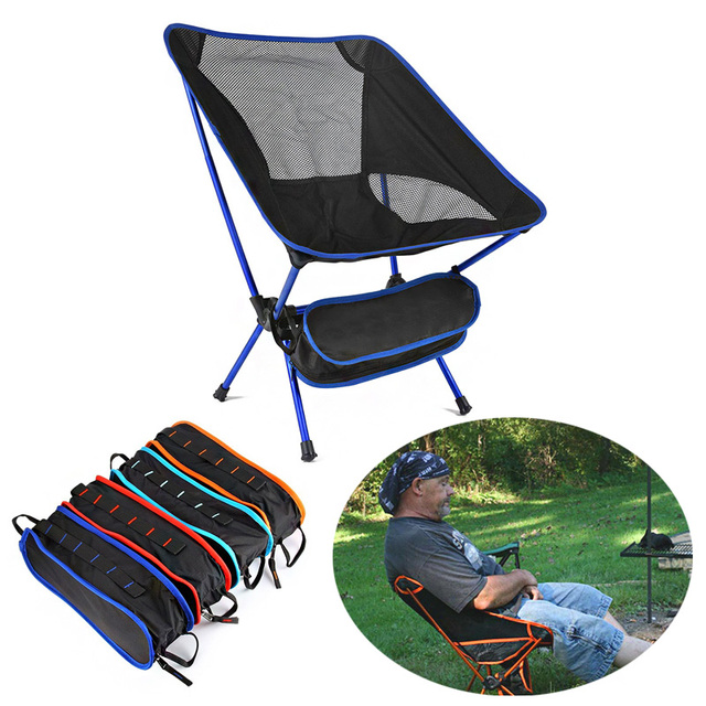 Superhard High Load Travel Chair Outdoor Ultralight Folding Camping Chair Portable Beach Hiking Picnic Seat Fishing Tools Chair