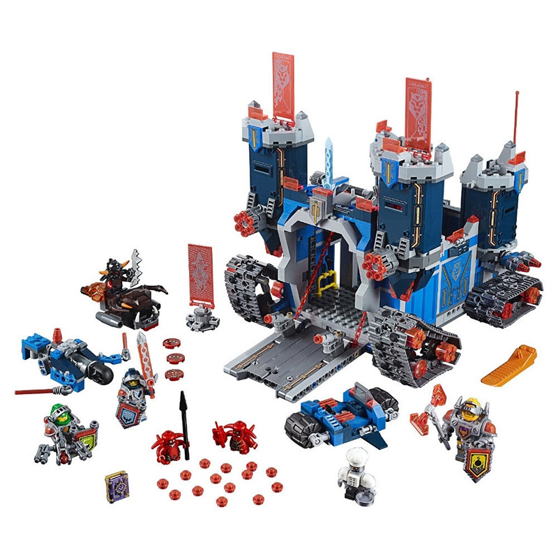 Model 14006 10490 1115Pcs Nexus Knights The Fortrex Castle Building Block Clay Aaron Fox Axl Compatible with lego 70317 Bricks hot sy762 nexus nick knights mech robot building block clay macy axl lance beast master moltor bricks block figure toys for kids