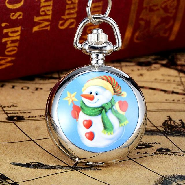 2017 New Arrival Christmas Pocket Watches 40cm Band Length Vintage Style Pocket Chain Necklace Watch Gift Pocket Watch reloj