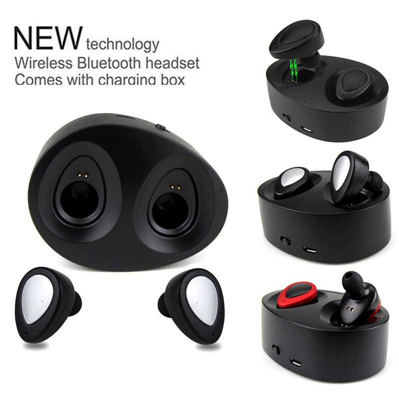 Daono TWS K2 Bluetooth Earphone True Wireless headset Mini Stereo Earbuds with Charging Socket for iphone xiaomi Samsung remax bluetooth v4 1 wireless stereo foldable handsfree music earphone for iphone 7 8 samsung galaxy rb 200hb