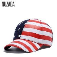 Brand NUZADA Quality PU Leather Materials Hip Hop Hats Men Women Baseball Caps Snapback Bone American
