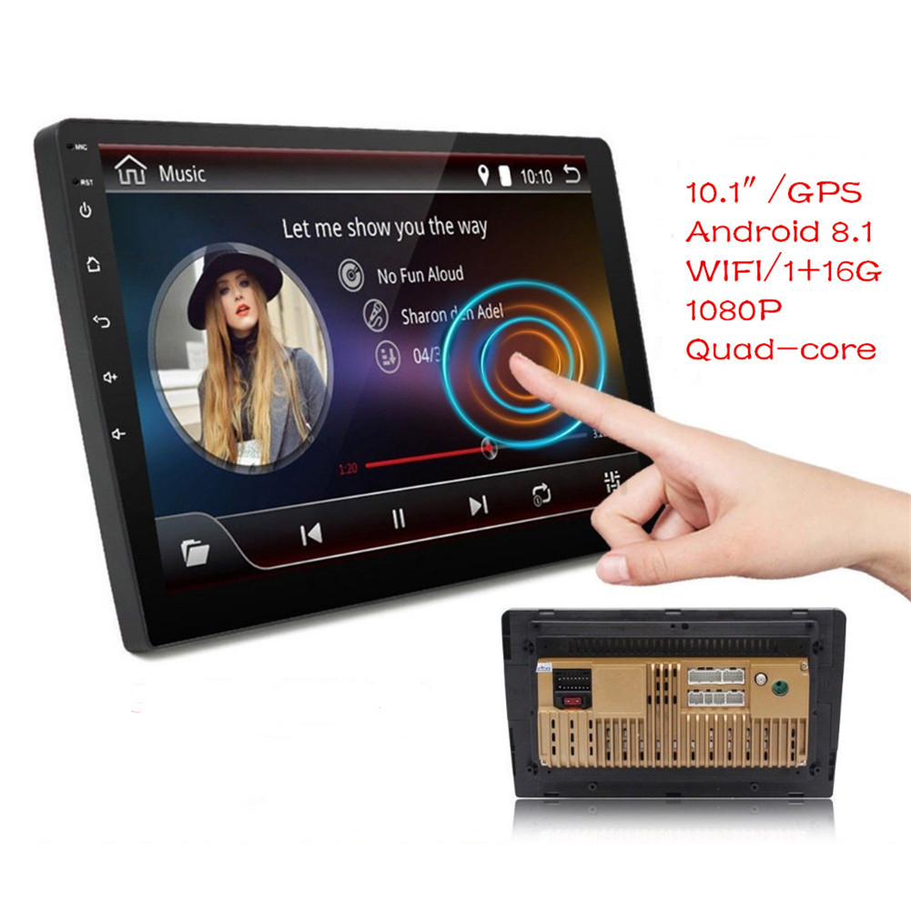 """Top Android 8.1 2 Din Car Stereo Radio 10.1"""" GPS Wifi Touch Screen MP5 Player Support Rear View Camera Android Car Radio 7"""