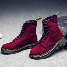 Women Genuine nubuck leather boots Winter Ankle Boots British style Women Autumn casual shoes exquisite sapato feminino JA605W