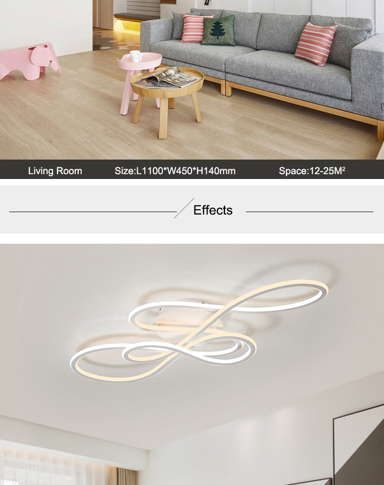 HTB1SkP7binrK1Rjy1Xcq6yeDVXa2 NEO Gleam Double Glow modern led ceiling lights for living room bedroom lamparas de techo dimming ceiling lights lamp fixtures