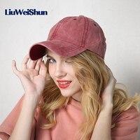 [LWS] Phụ Nữ Mũ Bóng Chày Men Snapback Hat Thời Trang girl boy Jean Cotton Mềm Ajustable Casquette Gorras 6 Bảng Điều Chỉnh Đồng Bằng thể thao Cap