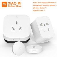 Xiaomi Aqara Ar Condicionado Parceiro Gateway Wi fi Zigbee Automação Residencial Inteligente Kits Tomada Inteligente De Temperatura E Umidade Do Sensor|Controle remoto inteligente| |  -