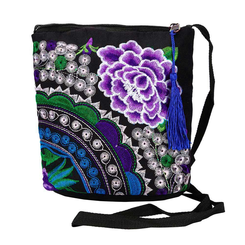 Wallet Women Clutch-Bag Wristlet Vintage Purse Embroidered Hangbags Top-Quality Ethnic