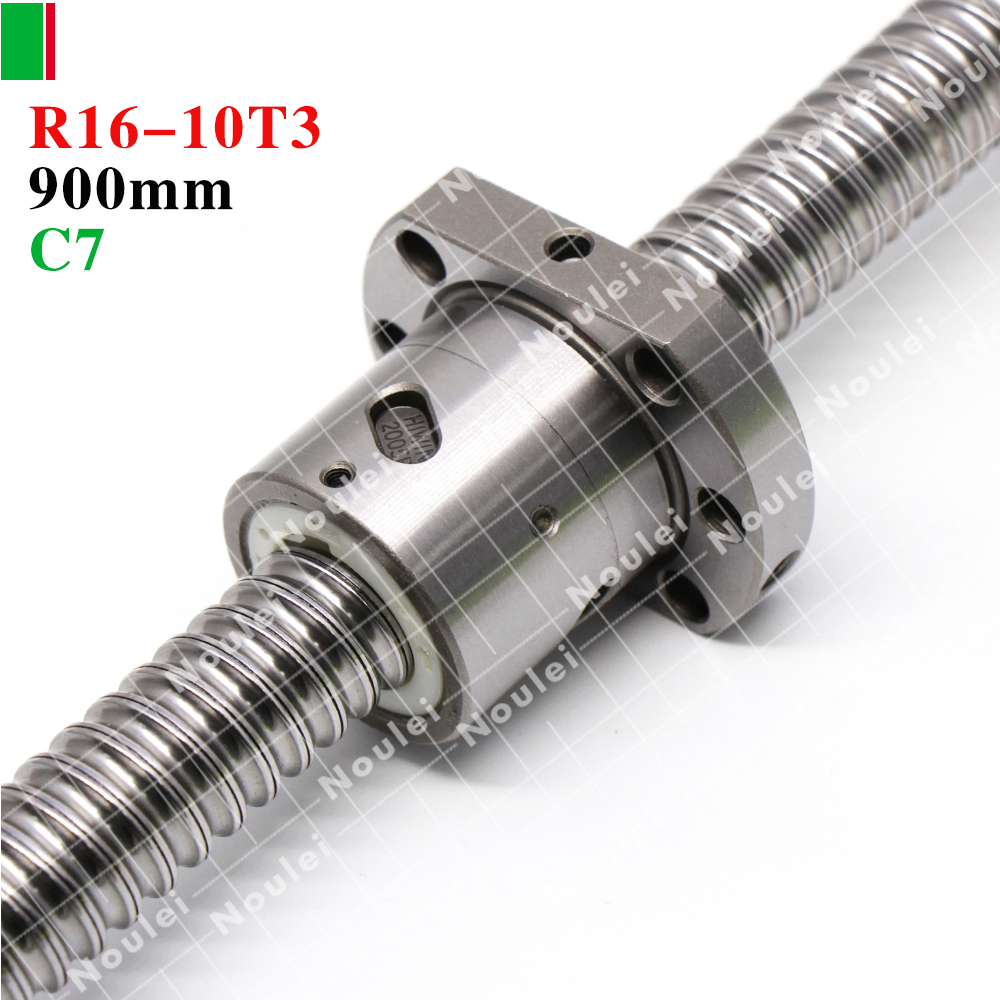HIWIN 1610 C7 900mm ballscrew 10mm lead screw for cnc with R16-10T3-FSI ballnut ballscrew sfu1610 l200mm ball screws with ballnut diameter 16mm lead 10mm