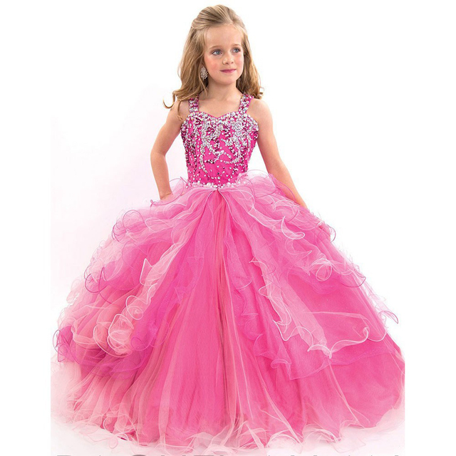 618f562a1efd7 Beauty pageant ball gowns for girls Ball Gown Flower Girl Dresses Cheap  Plus Size Girls Wedding Party Dress primera comunion-in Flower Girl Dresses  ...