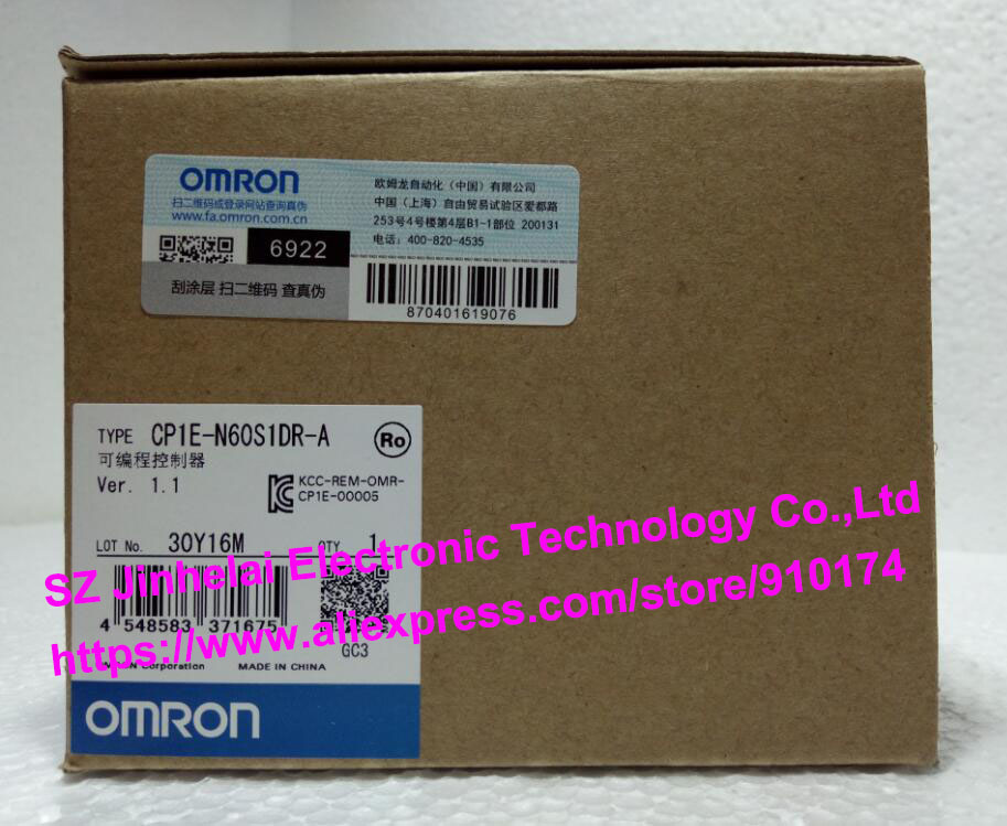 все цены на 100% New and original  CP1E-N60S1DR-A   OMRON PLC CONTROLLER онлайн