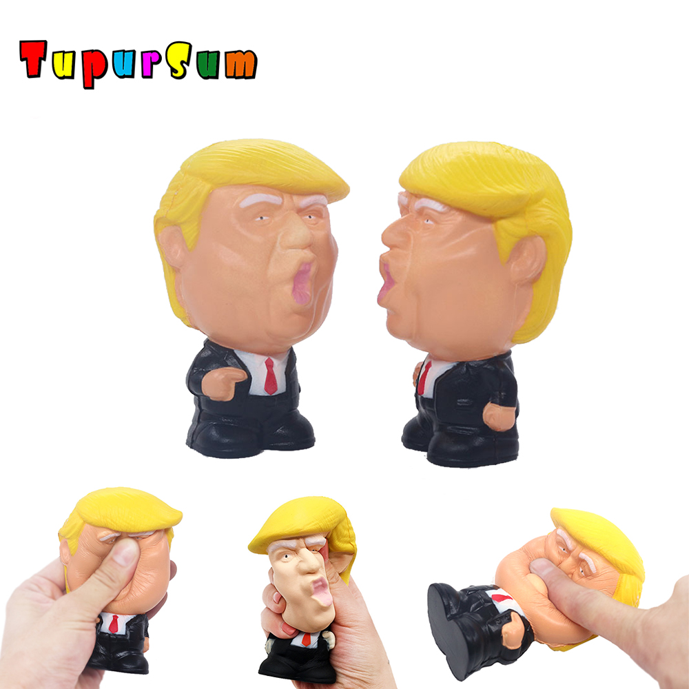 Cute Jumbo Trump Squishy Spiderman Iron Man Hulk Slow Rising Soft Squeeze Toys Bread Scent Stress Relief For Kid Fun Gift Toy