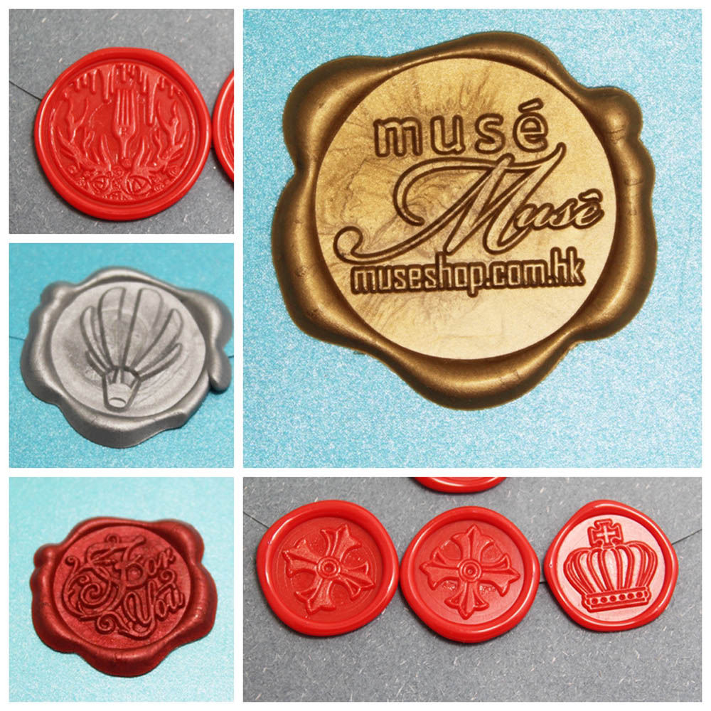 Customized Design WAX SEAL STICKER Gift Sealing Wax Tags/Custom Security Stickers Viatage Personal Logo100pcs/lot Dia 25/30mm
