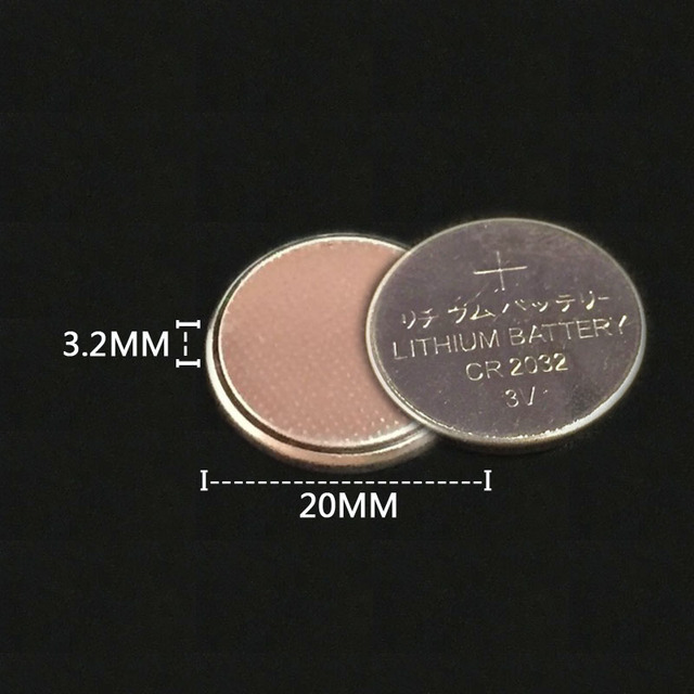25Pcs 3V CR2032 Lithium Button Cell Battery BR2032 DL2032 ECR2032 CR2032 Button Coin Cell BatteriesFor Watches clocks calculator