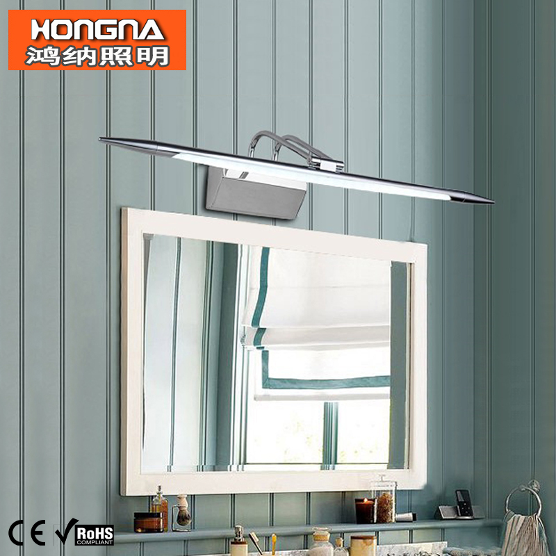 Free Shipping 110V/220V Stainless Steel LED Mirror Light Bathroom Wall Lights Waterproof Anti-fog Wall Lamp 40cm 12w acryl aluminum led wall lamp mirror light for bathroom aisle living room waterproof anti fog mirror lamps 2131
