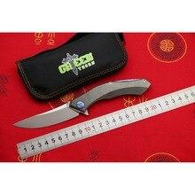 Зеленый шип poluchetkiy Флиппер складной нож M390 лезвие titanium Ручка Открытый Отдых тактика Охота фрукты Ножи EDC инструменты