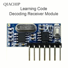 433mhz RF Receiver Learning Code Decoder Module 433 mhz Wireless 4 Channel output Diy kit For Remote Control   1527 encoding