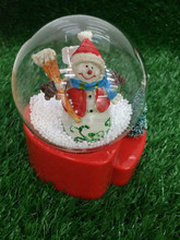 10*14*16cm Santa snow music gift box of furnishing articles There is a light, music, snow
