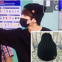 KPOP BTS Bangtan Boys JUNG KOOK Brown Bear Same Style Fan Made Hip Hop Black Hat