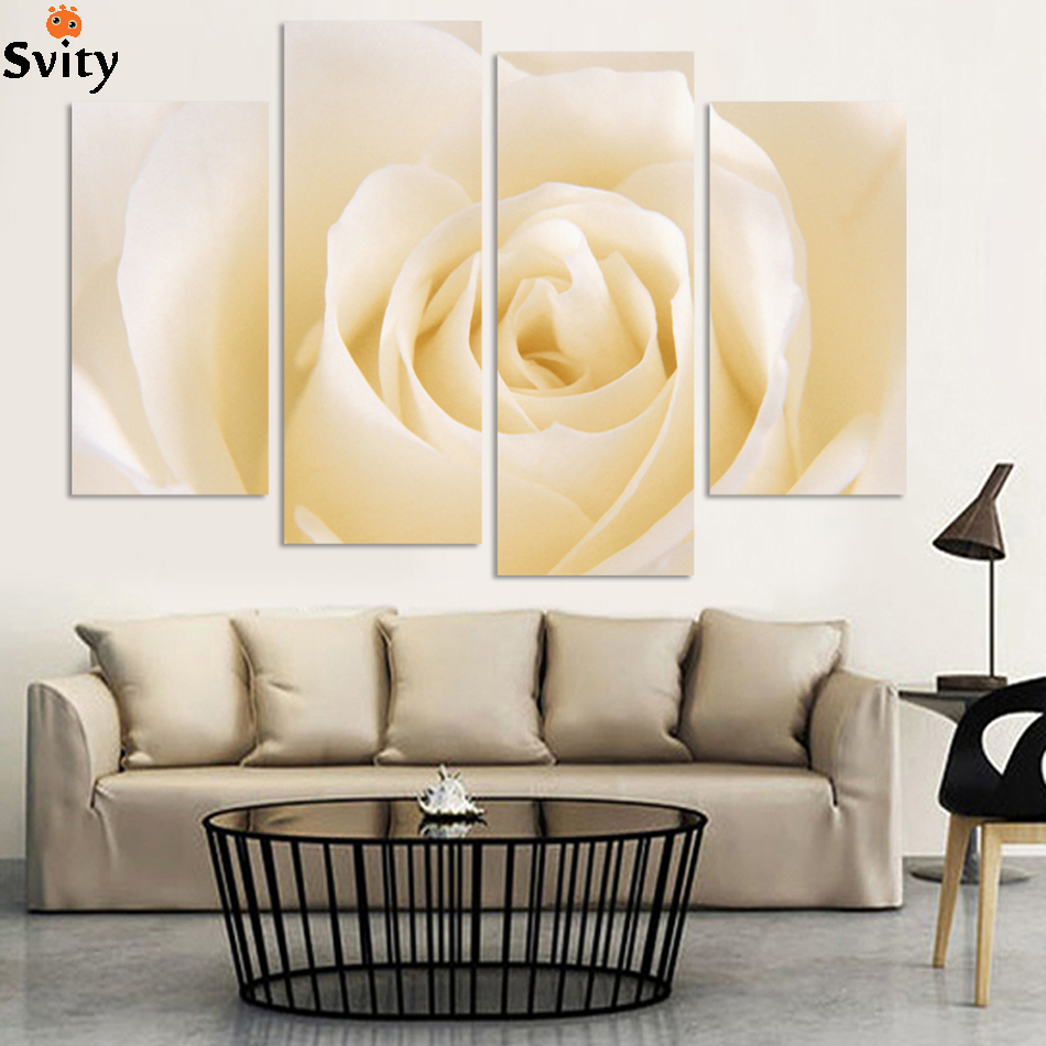 High Quality 4 pcs Modern Decoration Oil painting On Canvas Big ...