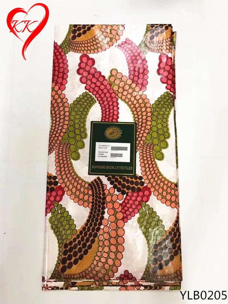 KK Afrikaanse kleurrijke Bazin riche stof 2017 nieuwste Bazin riche getzner Nigeriaanse Afrikaanse Bazin stof 5 yards groothandel YLB02-in Stof van Huis & Tuin op  Groep 1