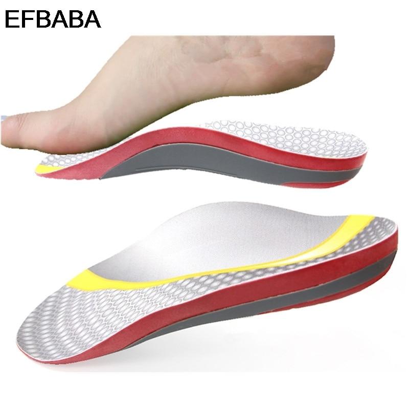 EFBABA Plantari Uomini Donne Scarpe Solette Heel Pad Piede Piatto Arch Support X-Tipo o Gamba Correzione Ortopedico scarpe Pad