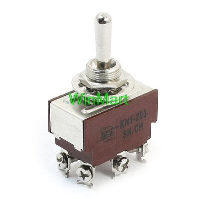 Switches Kn1-203 Dpdt 3 Way On/off/on Locking Rocker Toggle Switch Ac250v 2a Lighting Accessories