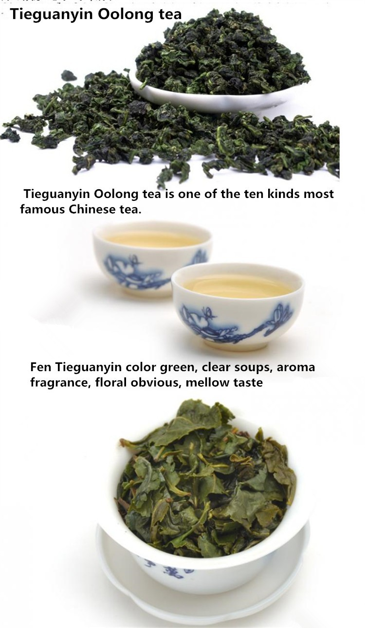 10BAGS/ box China anxi tieguanyin oolong tea tie guan yin luzhou-flavor tieguanyin tea premium with blue and white porcelain gift