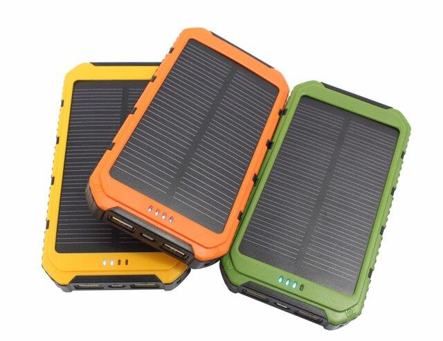 Новый Портативный солнечный power bank Настоящее 10000 мАч Панели солнечных батарей Внешняя Батарея 2 USB Power Bank Зарядное Устройство для xiaomi HUAWEI