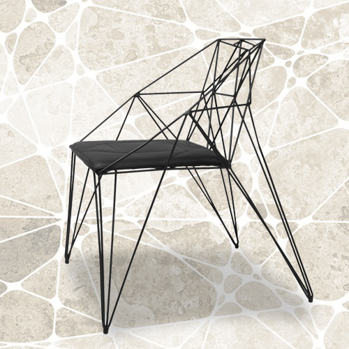 Delicieux Pierced Black Wrought Iron Chairs White Modern Minimalist Chairs Reception  Chairs To Discuss Creative Furniture Chairs