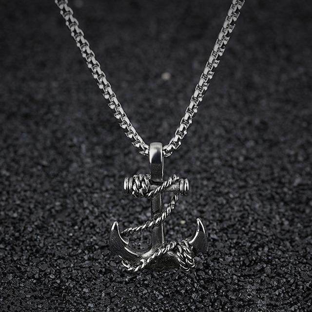 Titanium Steel Chain Anchor Necklace