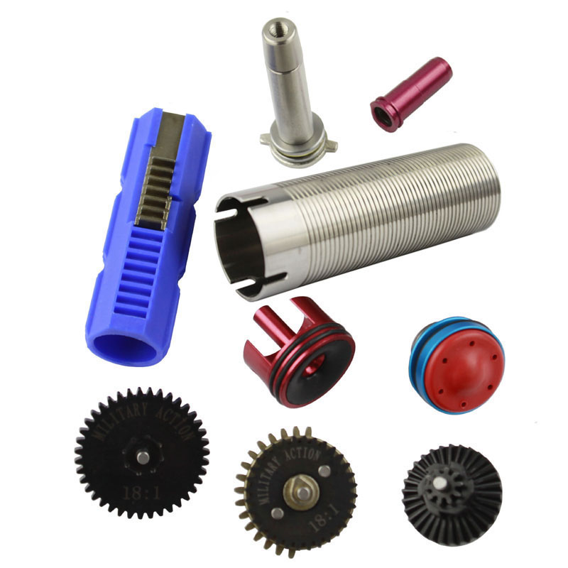 Hunting Gun Accessories Humble 18:1 Original Torque Gear Set/piston/piston Head/cylinder/cylinder Head/spring Guide /nozzle For M4 Mp5 Ak G36 Airsoft Aeg Hunting