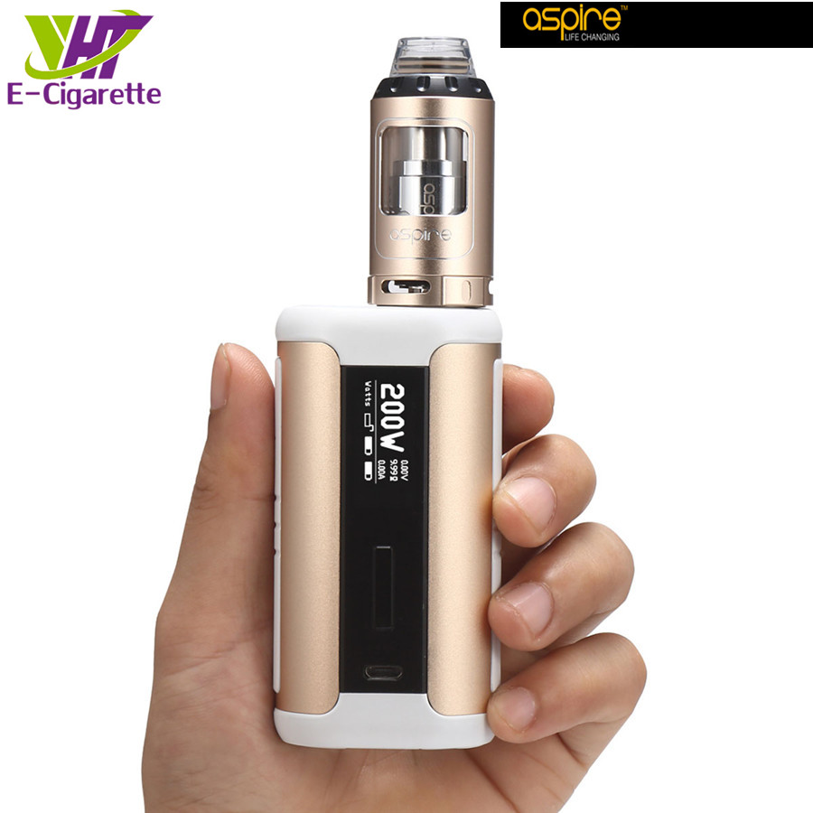 Original Vape Kit Aspire Speeder 200W Kit 2ml/4ml Atomizer Tank Box Mod Kit Electroni Cigarette 510 Thread Airflow Adjustable yiloong vape geyscano box 50w bf mod kit