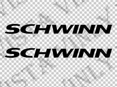 "Para (2Pcs) (2x) Schwinn 11 ""long (28cm) Vinyl Decal Adesivo para Quadro de Bicicleta"