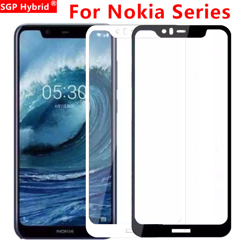 Protective Glass For <font><b>Nokia</b></font> 2.1 3.1 <font><b>5.1</b></font> 6.1 Plus X5 X6 Tempered Glas <font><b>Screen</b></font> <font><b>Protector</b></font> On X 5 6 5x 6x Full Cover Protect Film image