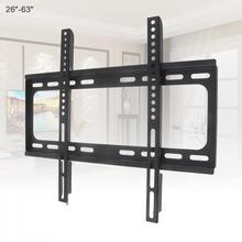 Universel 45KG 26 63 pouces fixe type support de montage mural TV cadre de télévision à écran plat avec niveau pour écran plat LCD moniteur LED